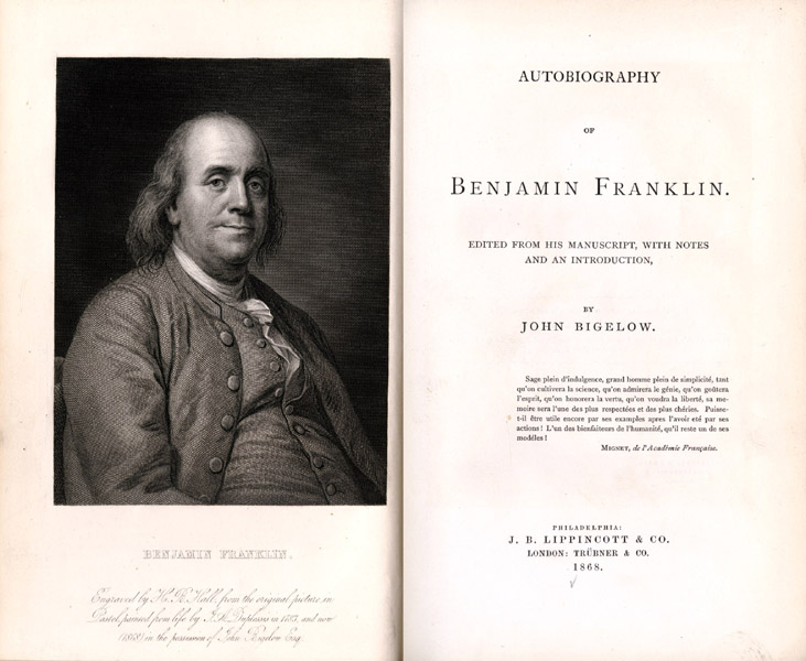 The Autobiography of Benjamin Franklin, book.