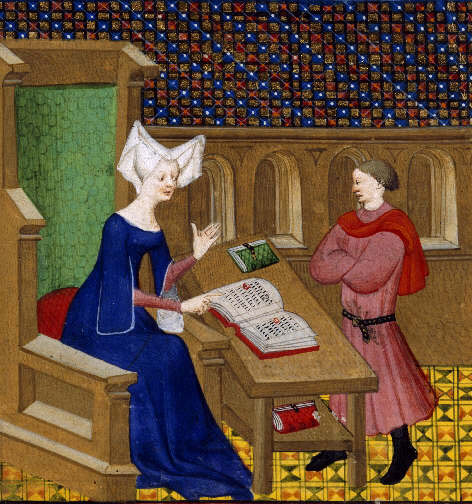 """An illustration from """"The Book of Deeds of Arms and of Chivalry"""" by Christine De Pizan."""