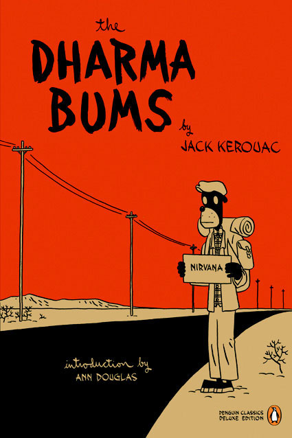 Dharma bums by Jack Kerouac, book cover.