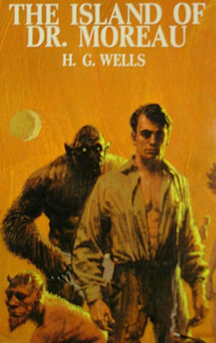 The Island of Dr. Moreau by H.G. Wells, book cover.