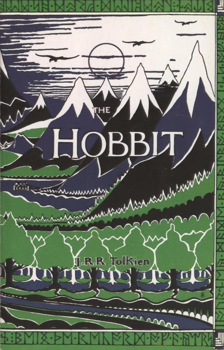 The Hobbit by J.R.R. Tolkien, book cover.