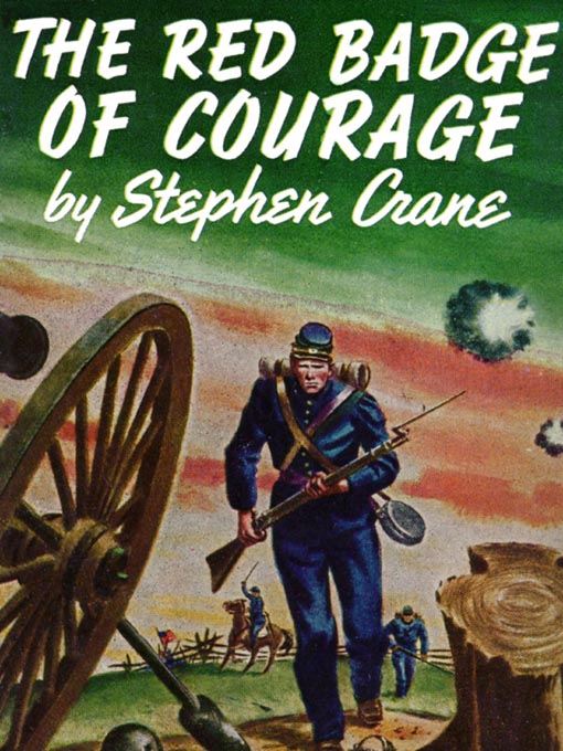 The Red Badge of Courage by Stephen Crane, book cover.