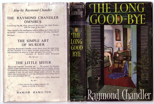 The Long Goodbye by Raymond Chandler, book cover.