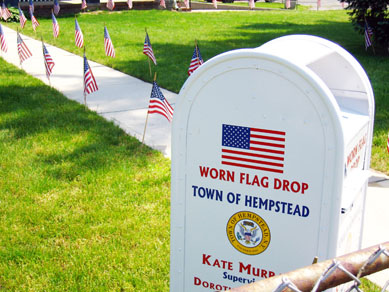 VFW retired American flag deposit