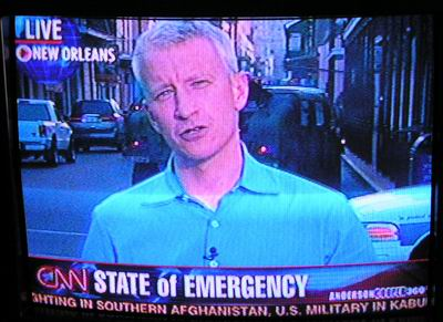 Anderson Cooper live on tv show.
