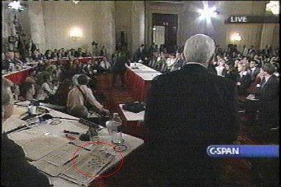 Tom Coburn giving speech in supreme court.