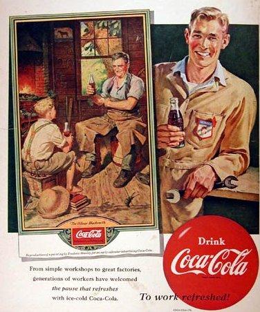 Vintage coca cola advertisement illustration.