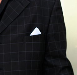 pocket square one corner fold