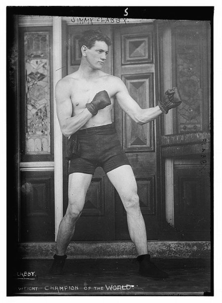 Vintage man in boxer portrait.
