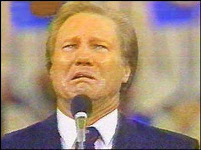 Jimmy Swaggart crying portrait.