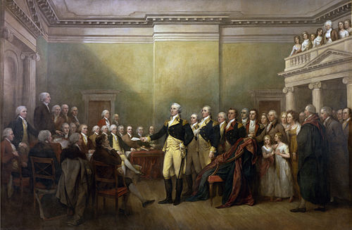 george washington resignation speech painting 1784