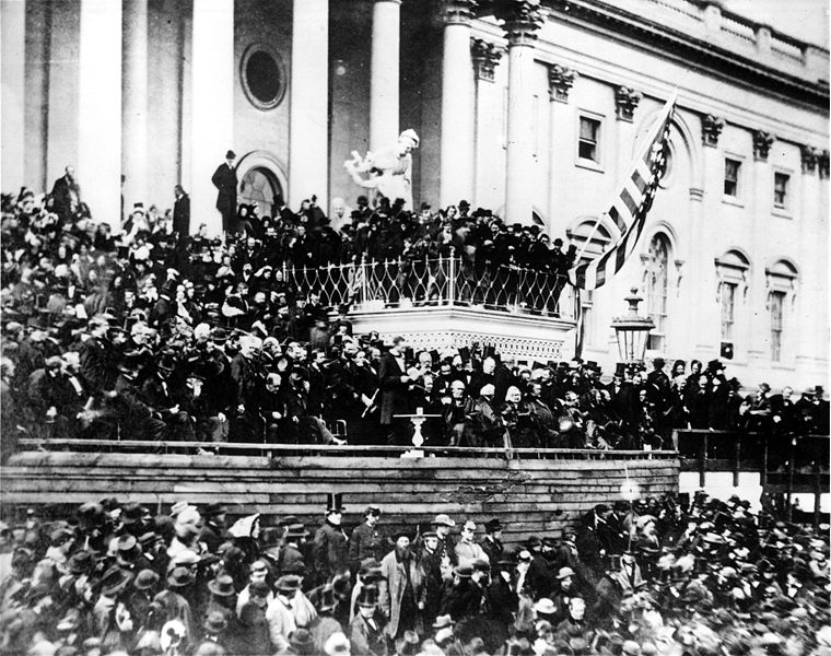 abraham lincoln 2nd inauguration address 1865 photo