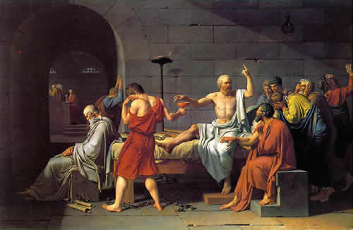 socrates apology greek painting debate