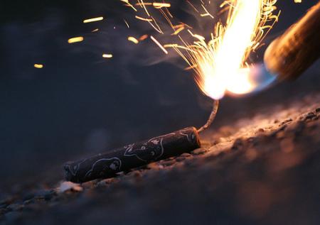 Black cat fireworks.