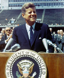 john f kennedy moon announcement speech 1961