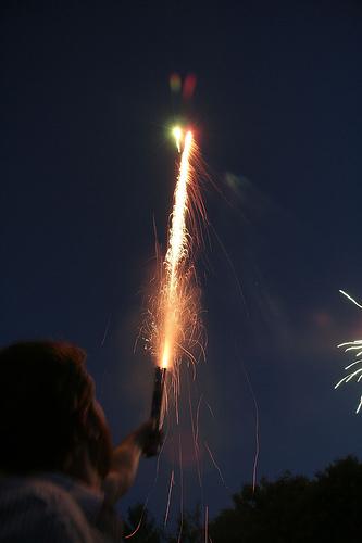 Roman candle fireworks.