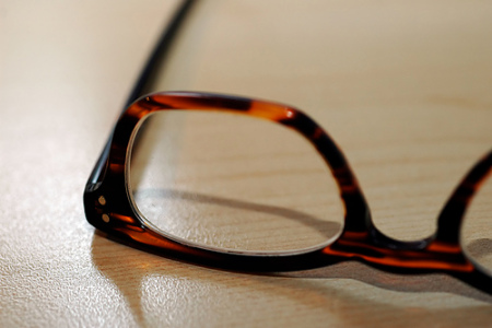 close up photo of tortoise shell eyeglasses