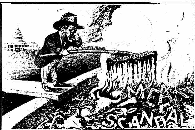 theodore roosevelt political cartoon muck raking scandal