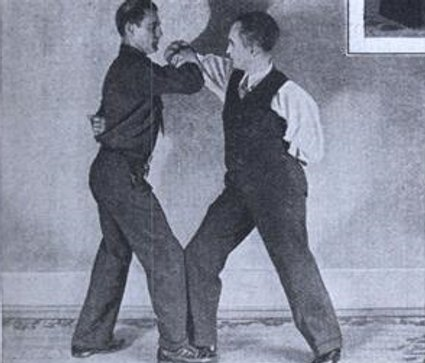vintage elbow wrestling match early 1900s