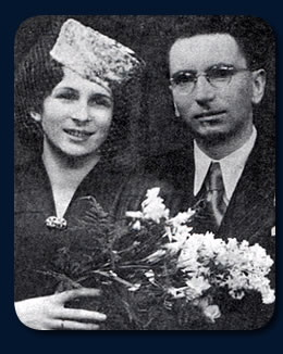 viktor frankl and wife young couple with flowers portrait