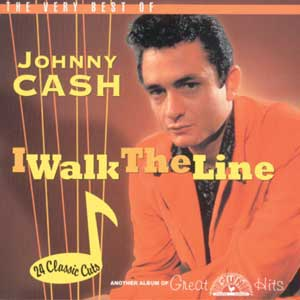 Song cover, i walk the line by Johnny Cash.