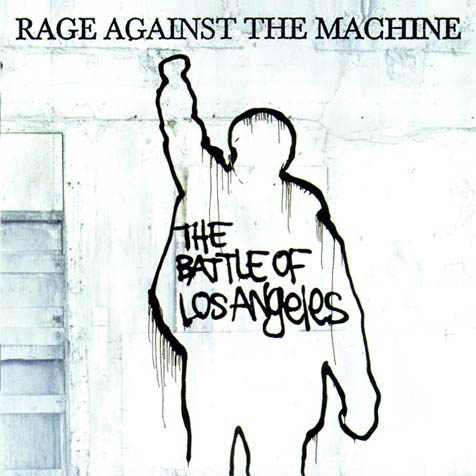 Album cover of rage against the machine illustration.