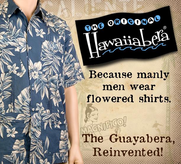 Original Hawaiiabera ad flower short sleeve shirt