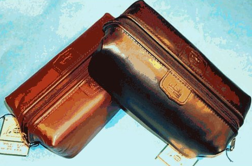 Leather Dopp kit unique groomsmen gift.