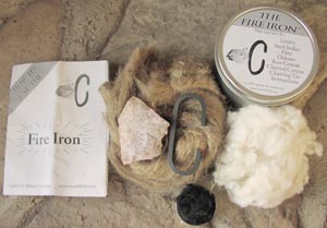 flint and steel fire starting kit groomsmen gift