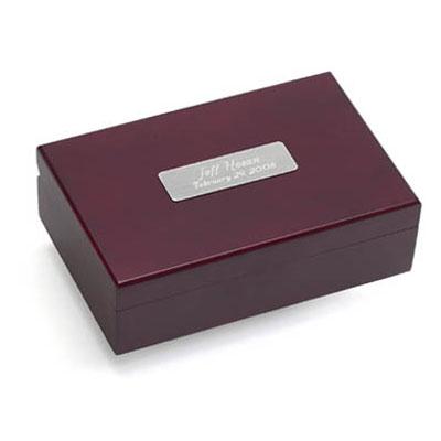 Personalized keepsake box groomsmen gift.