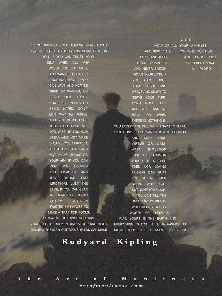 """Book cover of """"IF"""" by Rudyard Kipling."""