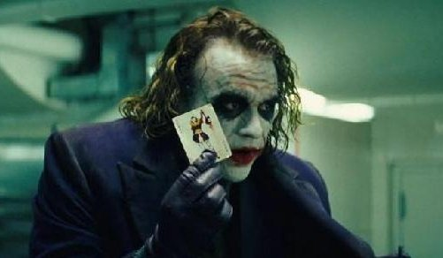 Joker playing card batman dark knight heath ledger.