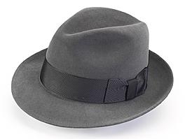 Stetson fedora hat gray unique groomsmen gift.