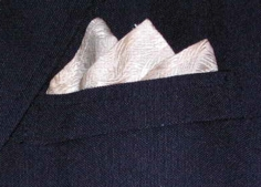 pocket square up close photo groomsmen gift