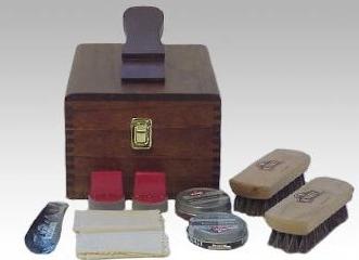 Shoe shine kit unique groomsmen gift.