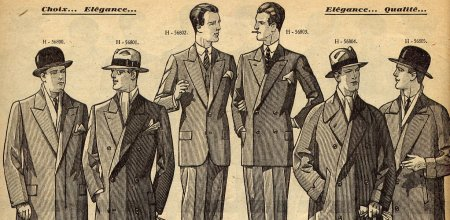 vintage suit ad mid 1900s men suits illustration