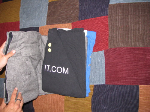 packing dress pants for traveling with t-shirts
