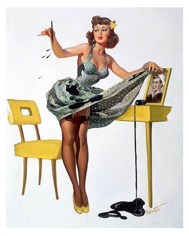 Girl on Pin Up Girl