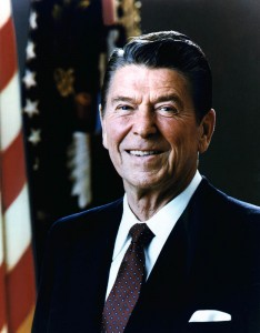 Ronald Reagan presidentail portrait power suit