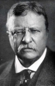 theodore roosevelt portrait teddy with glasses looking tough