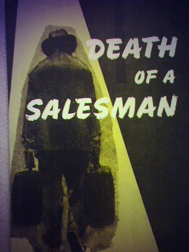 death of a salesman poster willy loman play