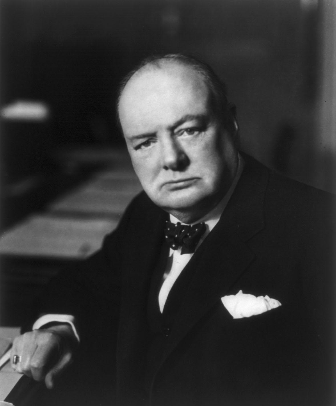 Winston Churchill famous portrait prime minister