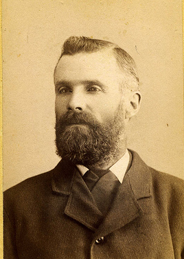 vintage man with full beard portrait late 1800s early 1900s