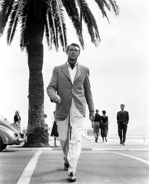 cary grant beach khakis and blazer