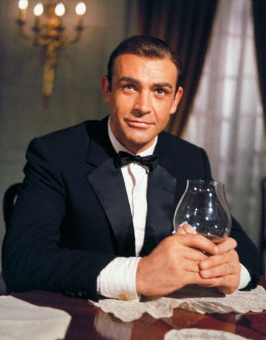 sean connery james bond 007 suit whiskey