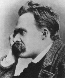 Friedrich Nietzsche portrait with mustache.
