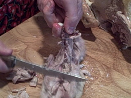 carve a turkey instructions cutting thigh meat