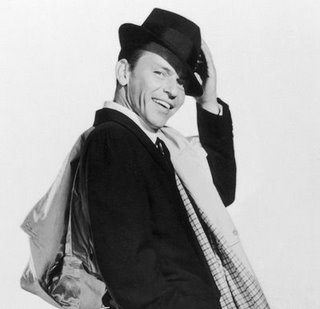 frank sinatra portrait suit hat coat over shoulder