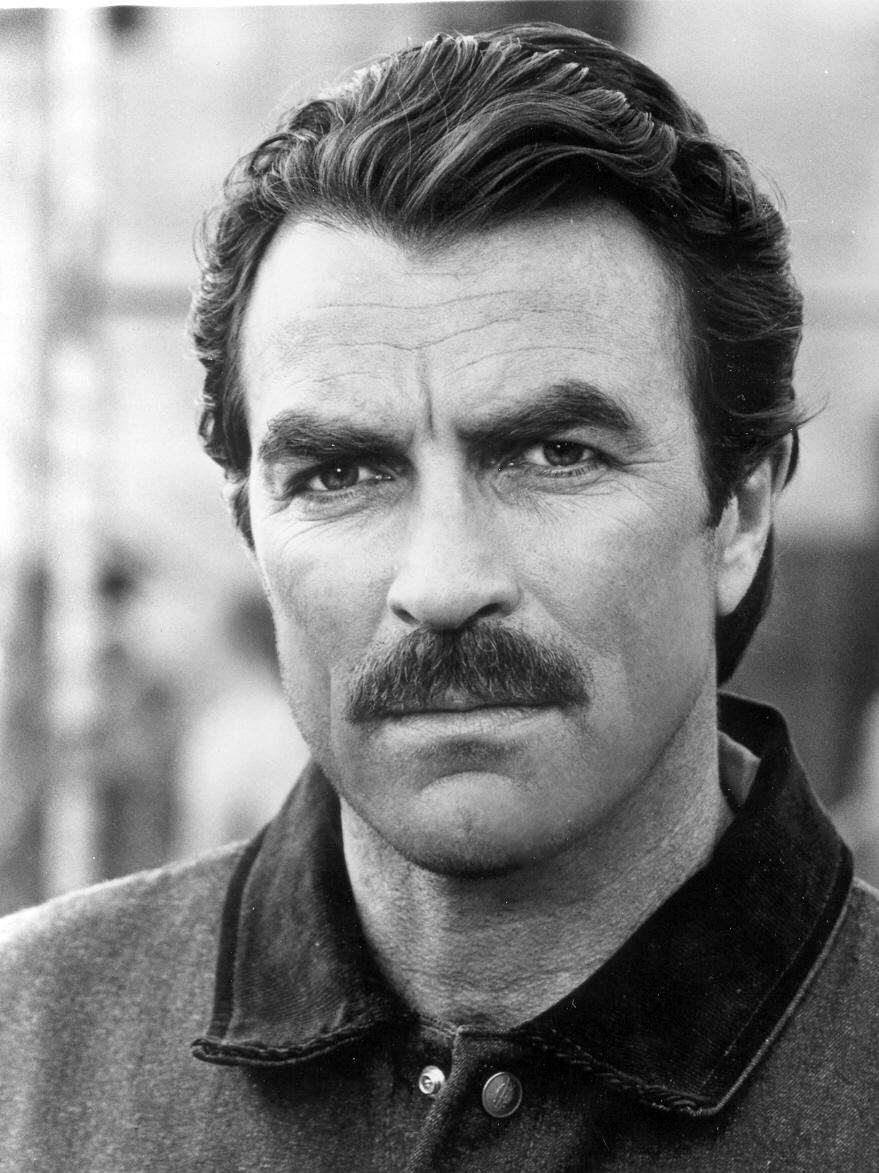 Tom Selleck portrait head shot famous mustache.
