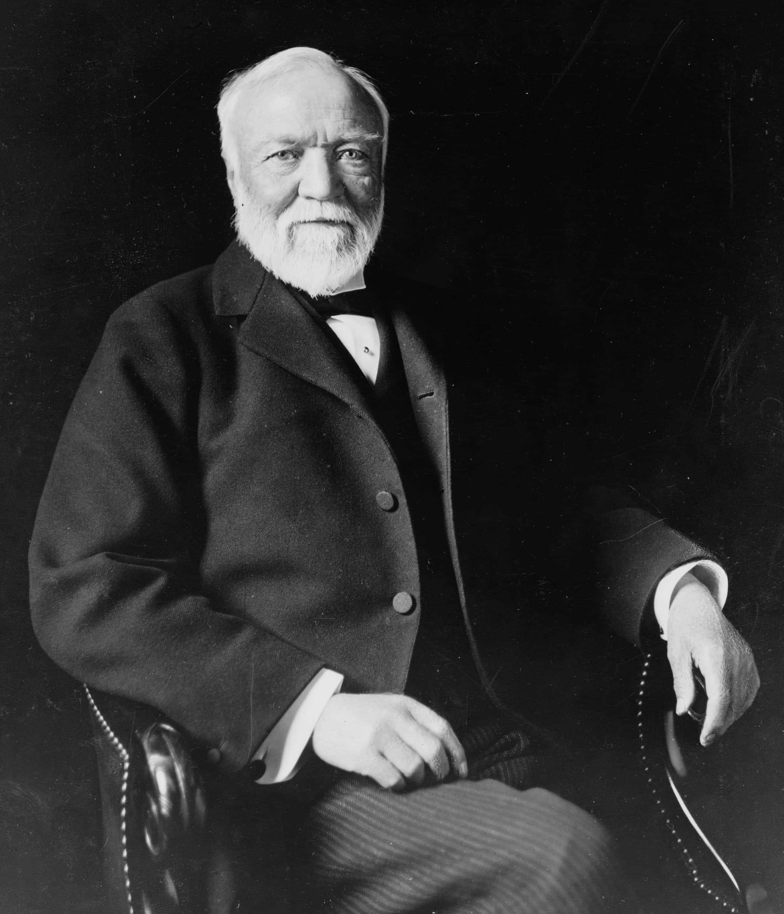 greatest self made men in history the art of manliness andrew carnegie portrait seated 1913